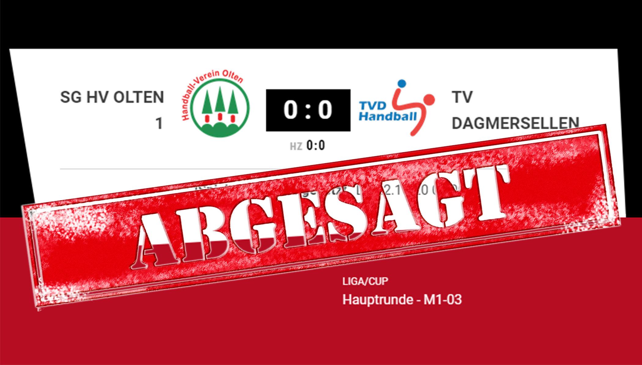 1.Liga-Spiel in Olten verschoben!